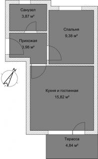 Апартамент А 4-1 План помещения AntiquePalace
