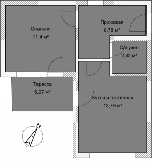 Апартаменты А 4-5 План помещения AntiquePalace