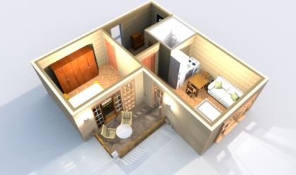 Апартаменты А 4-5 3D вид AntiquePalace