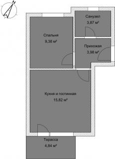 Апартаменты Б 2-3 План помещения AntiquePalace