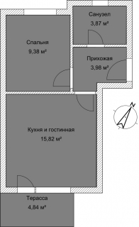 Апартаменты Б 3-5 План помещения AntiquePalace