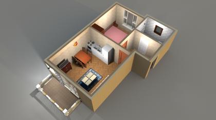 Апартаменты Б 3-5 3D вид AntiquePalace