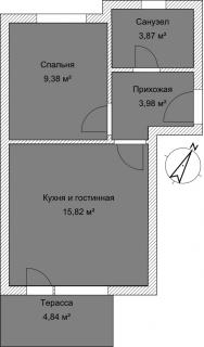Апартаменты Б 4-5 План помещения AntiquePalace