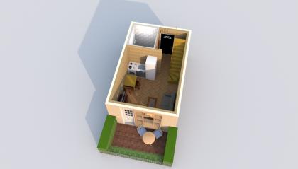 Мезонет А 1-4 1 этаж 3D вид AntiquePalace