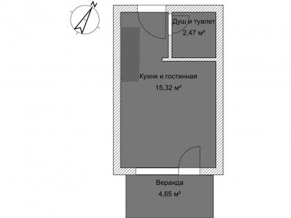 Мезонет Б 1-3 1 этаж План помещения AntiquePalace