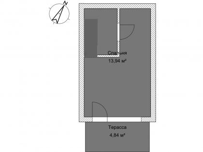 Мезонет Б 1-3 2 этаж План помещения AntiquePalace