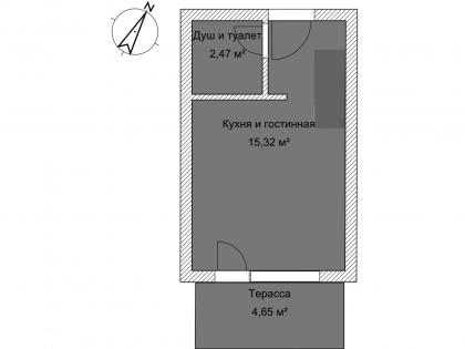 Мезонет Б 1-5 1 этаж План помещения AntiquePalace