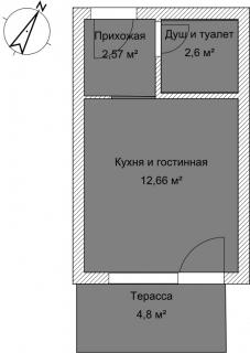 Студия А 4-2 План помещения AntiquePalace