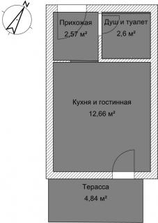 Студия А 4-3 План помещения AntiquePalace