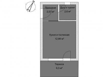 Студия Б 1-1 План помещения AntiquePalace