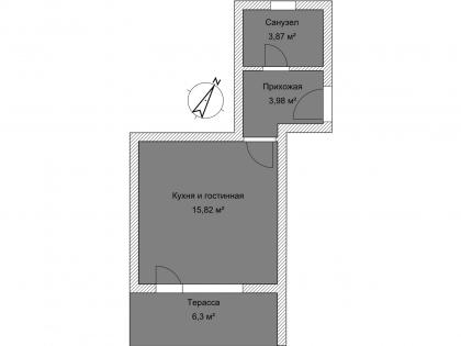 Студия Б 1-6 План помещения AntiquePalace
