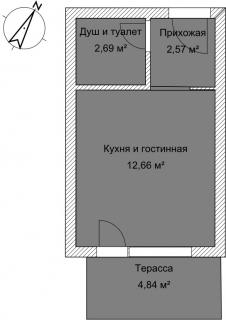 Студия Б 3-3 План помещения AntiquePalace