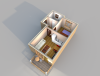 Апартамент А 3-1 3D вид AntiquePalace
