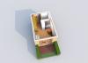 Мезонет А 1-2 1 этаж 3D вид AntiquePalace